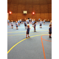 We take part in PE sessions in the dome.
