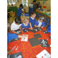 Creating a skeleton artwork.