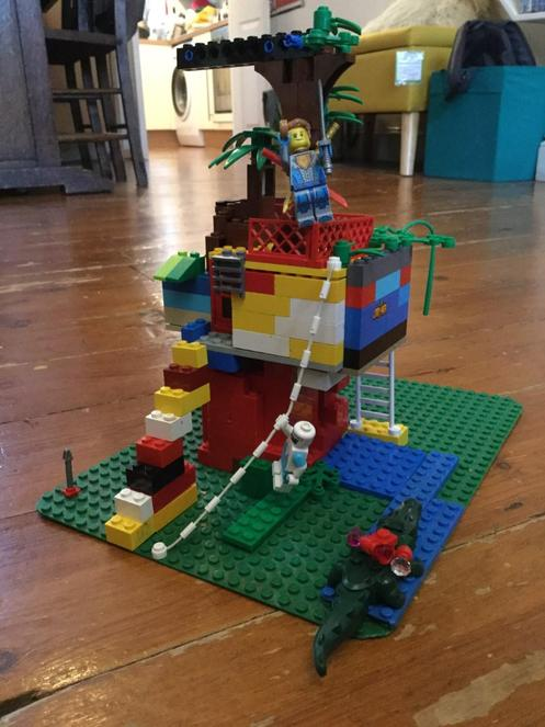 Joe in 2JS has taken the Lego challenge seriously.