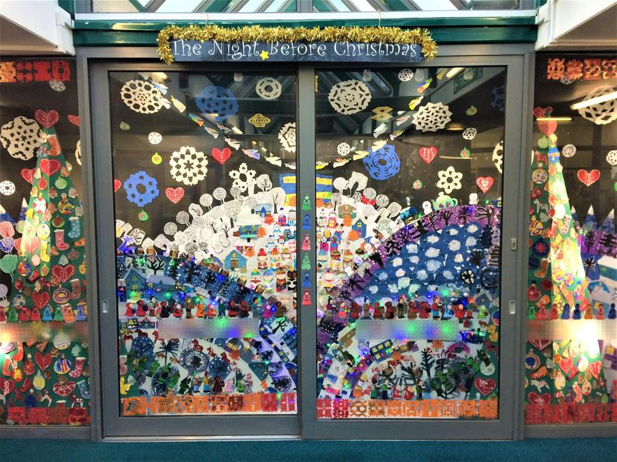 Our wonderful whole-school display at Christmas