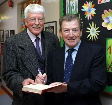 Dr Michael Scott, a past pupil meets Mr Bobby Elli