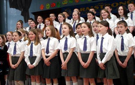 The Armstrong School choir