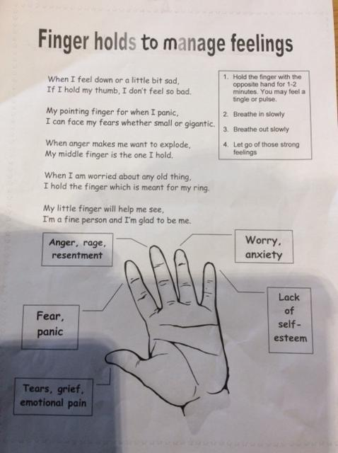 Finger Holds to manage Feelings