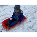 Oliver enjoying the snow