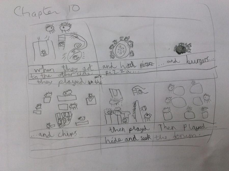 He even did a story board of what might come next!