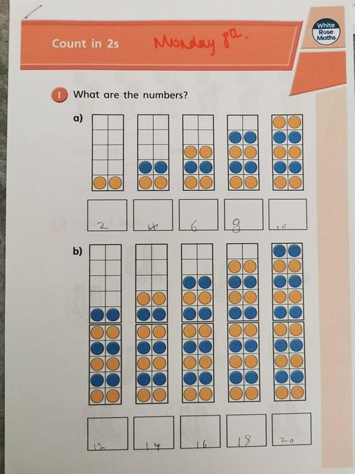 Counting in 2s for Pops