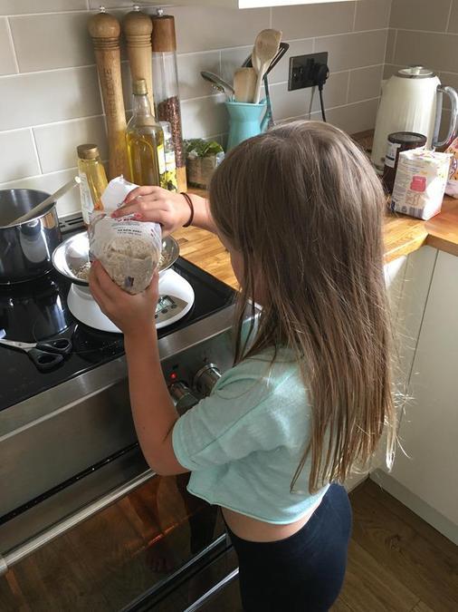 Using maths to measure ingredients