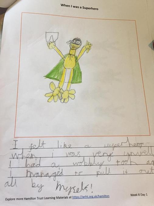 You have worked hard on your superhero writing