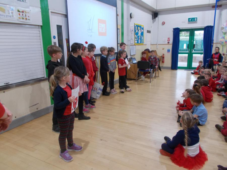 Red Nose Day assembly.