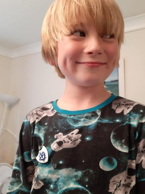 Rory wrote a poem and got his Blue Peter badge!!