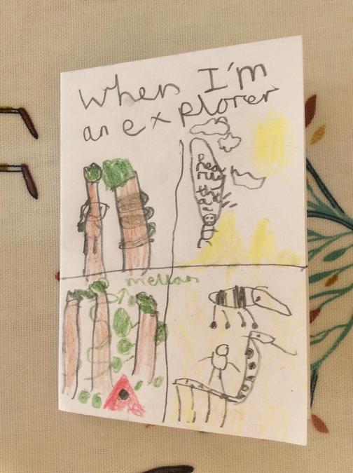 Walter created an explorer book
