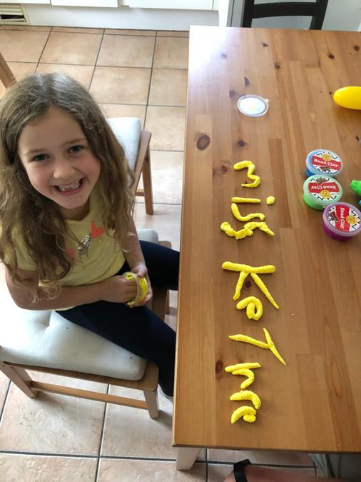 Brooke has been exploring using play doh!