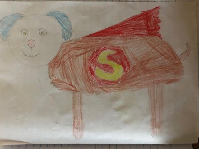 Brooke has created her own superhero for Literacy