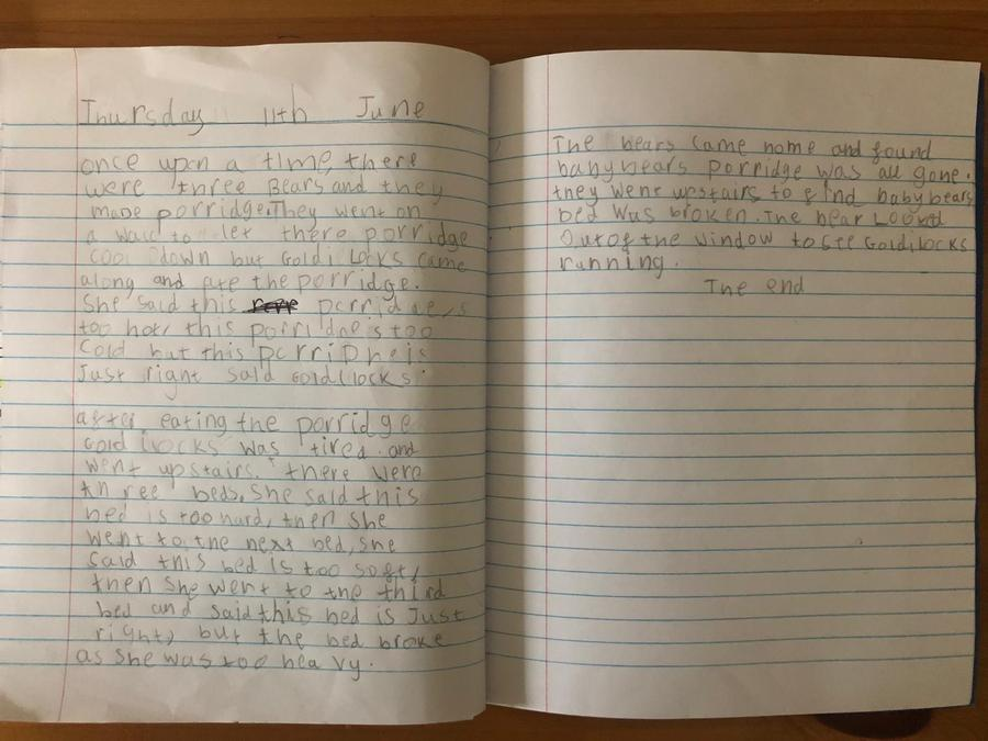 Brooke has written her own Goldilocks story