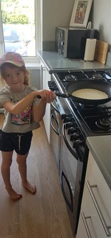 She has been doing lots of cooking too!