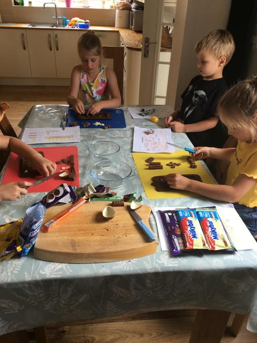 Siobhan's family have done a chocolate project...