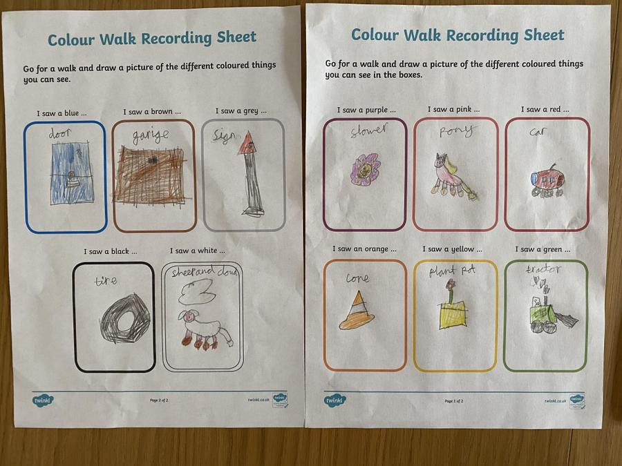 She has also been on a colour walk this week!