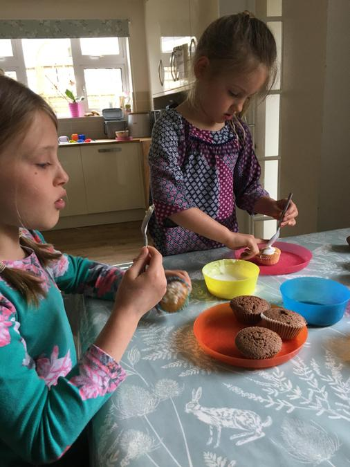 Busy making cupcakes!