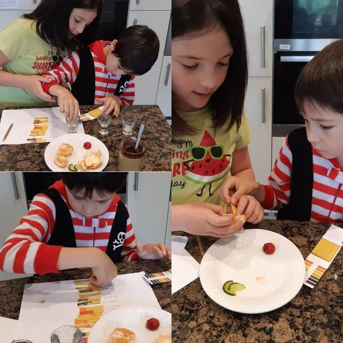 William and Elizabeth experimenting with foods