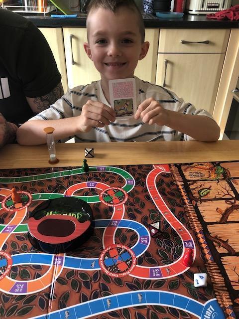 Having lots of fun playing games!