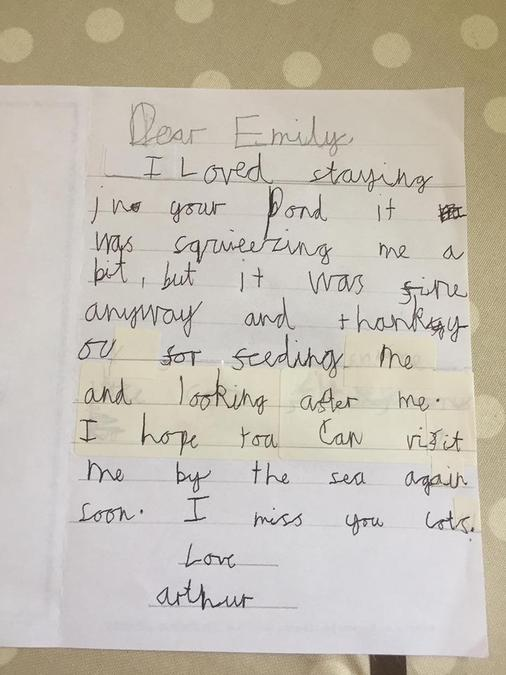A beautiful letter written by Daniel