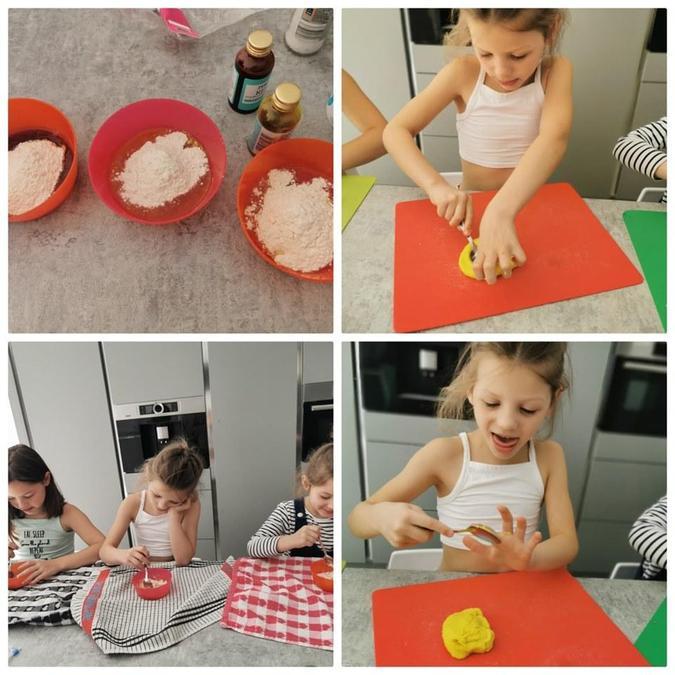 Poppy has made play dough