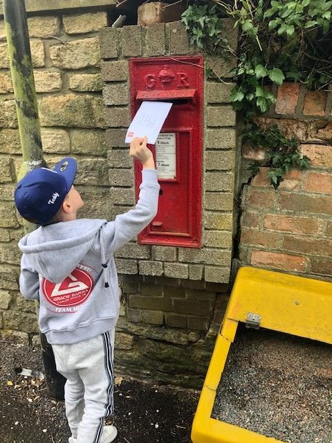 Teddy wrote letters and posted them to his family