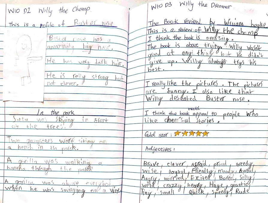 I love William's book review- well done!
