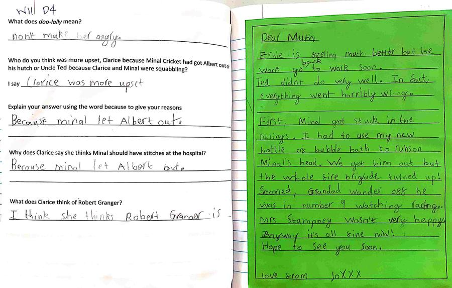 Excellent piece of writing William- good boy!