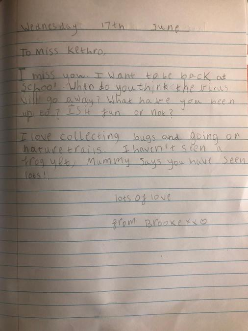 What a lovely letter to Miss Kethro Brooke!!