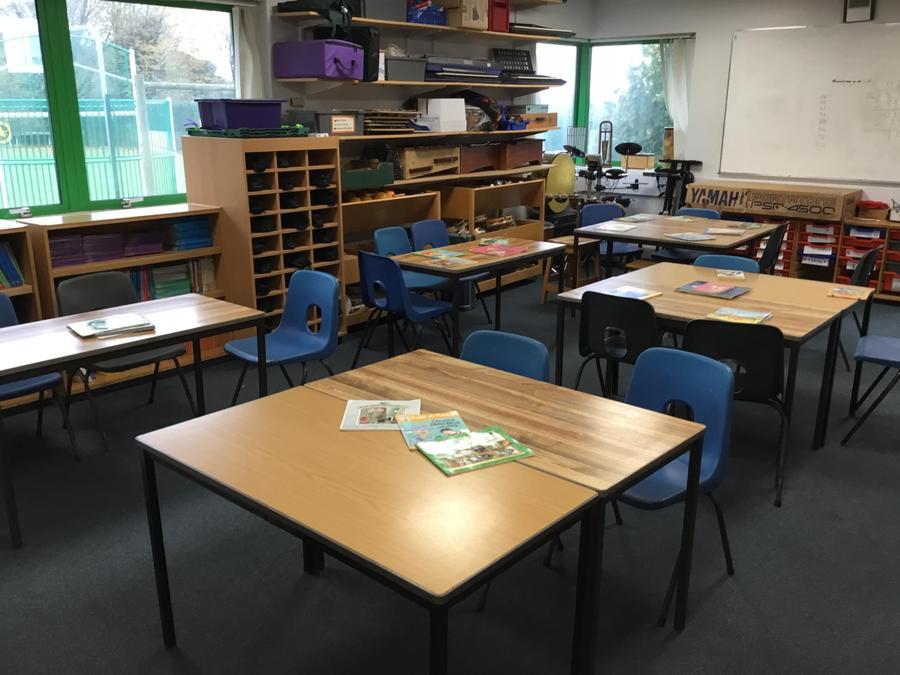 School Council café set up and ready