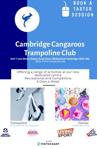 Cambridge Cangaroos Trampolining