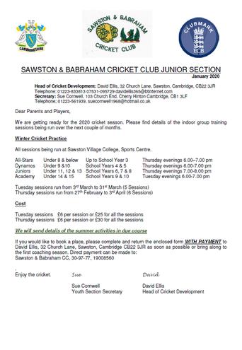 Sawston & Babraham Cricket Club Information