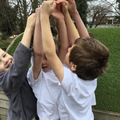 We will be learning outside and playing team games