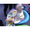 Brooke reading at the library