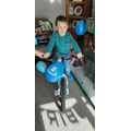 Oliver and his new birthday bike!