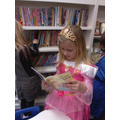 Keira reading at the library