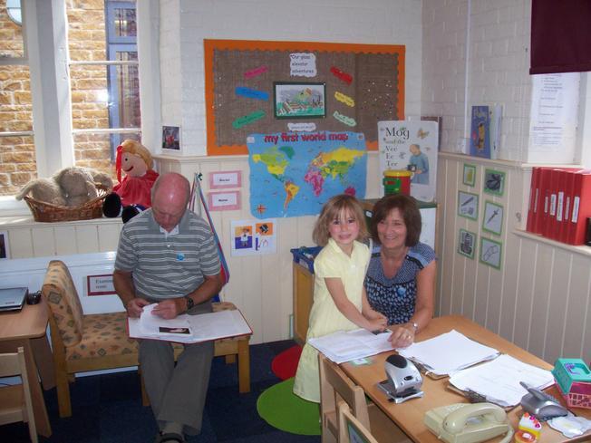Eden showed her grandparents her special file