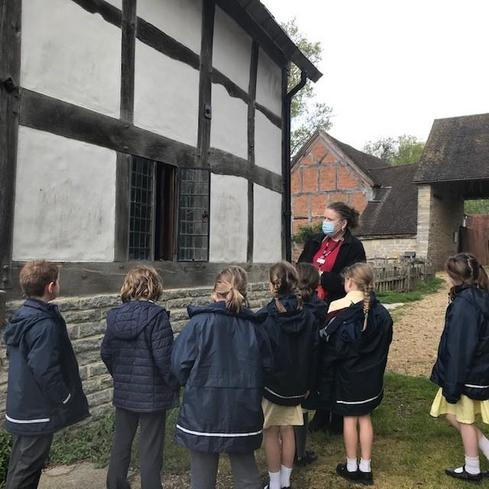 We looked at the farmhouse to learn about how Tudor buildings were constructed