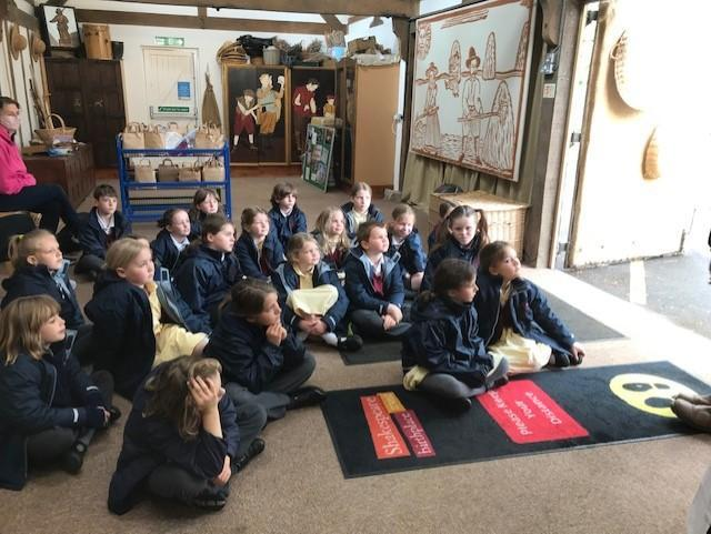 When we arrived we looked at Tudor clothing