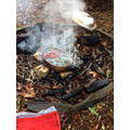 Baking chocolate muffins on the campfire...Yummy!