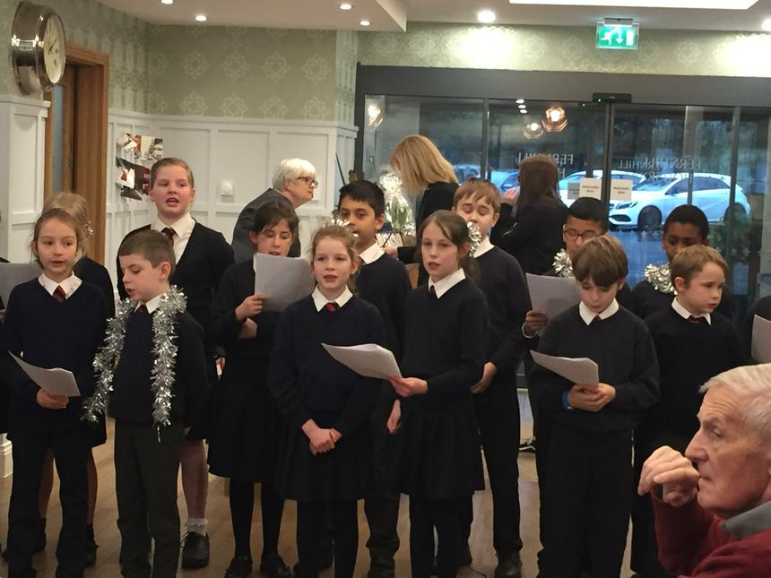 Our students singing beautifully