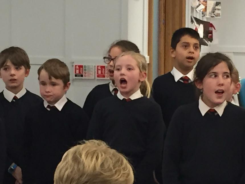 Our wonderful year3-6 students singing