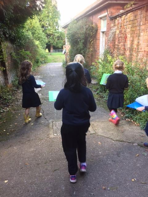 We are off for our woodland walk!