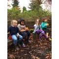 Sitting around the fire pit at the end of a fun filled session