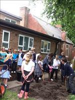 Fun in the garden with Mrs Read.