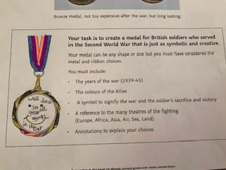 V.E. Day medal design by William