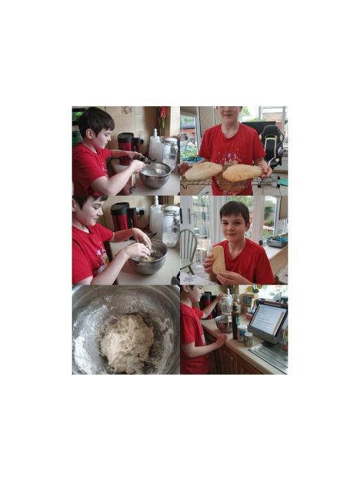 Making Egyptian flatbread