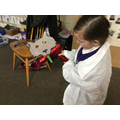 Investigating whether Mr Wold can blow items down.