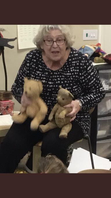 Mrs Edwards brought in her 68 year old teddy!